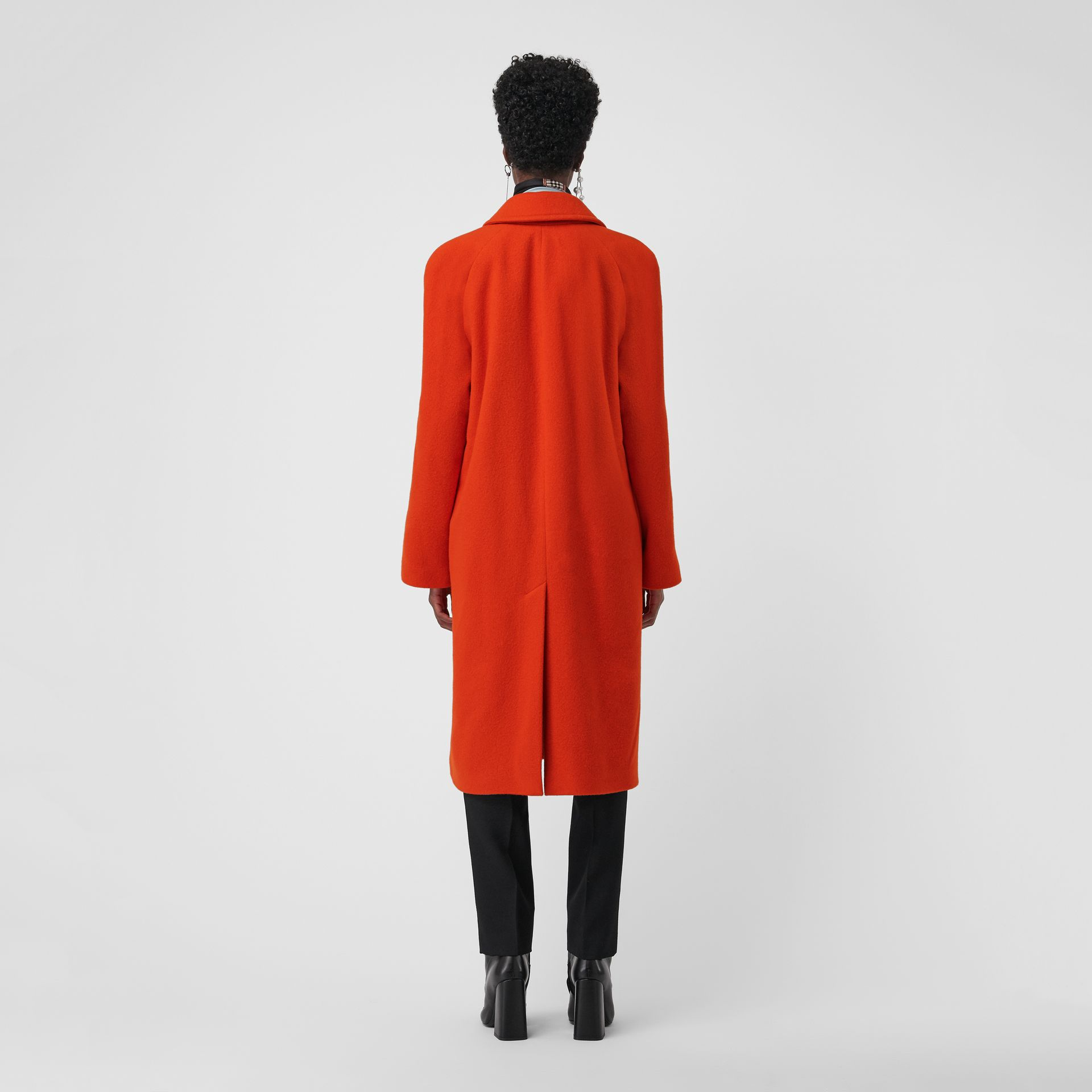 Wool Blend Tailored Coat in Bright Red - Women | Burberry Singapore - gallery image 2