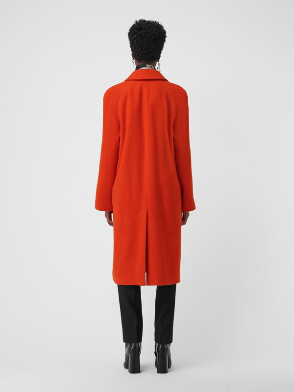 Wool Blend Tailored Coat in Bright Red - Women | Burberry - cell image 2