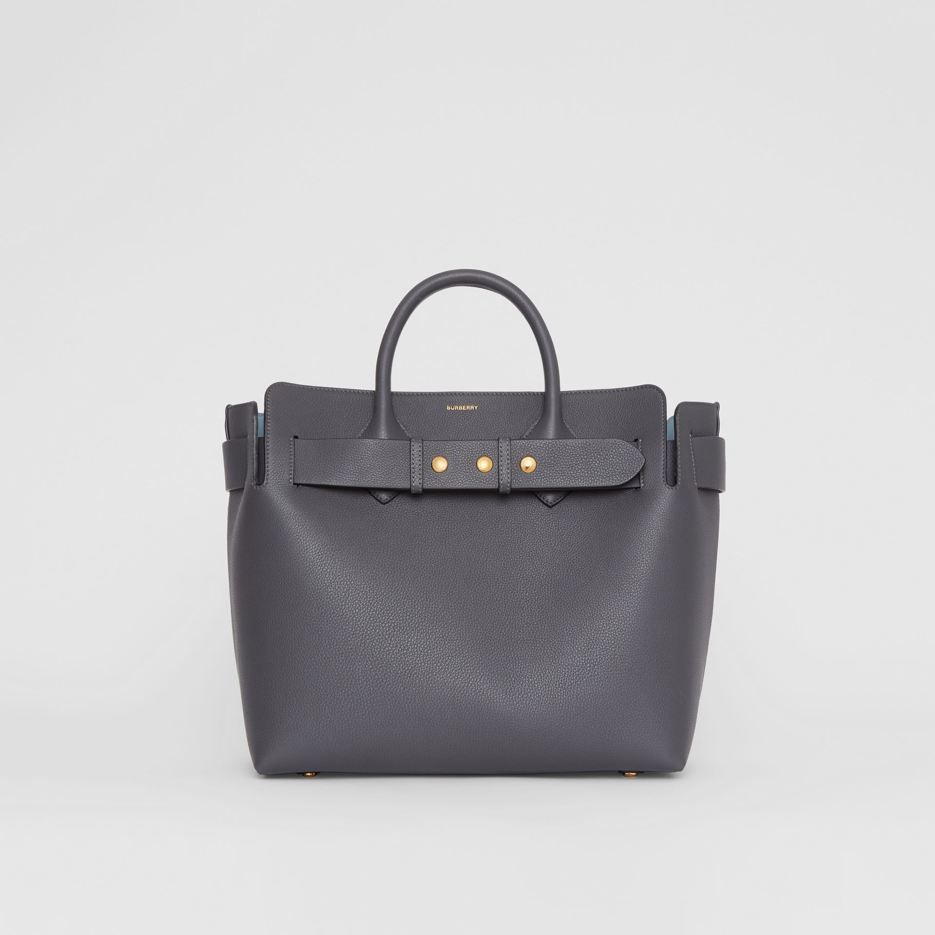 The Medium Leather Triple Stud Belt Bag in Charcoal Grey - Women | Burberry - gallery image 0