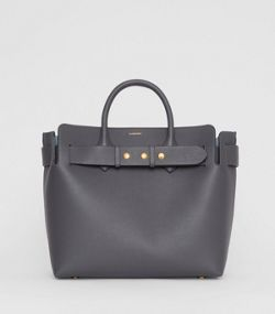 e176a860f777 The Medium Leather Triple Stud Belt Bag in Charcoal Grey