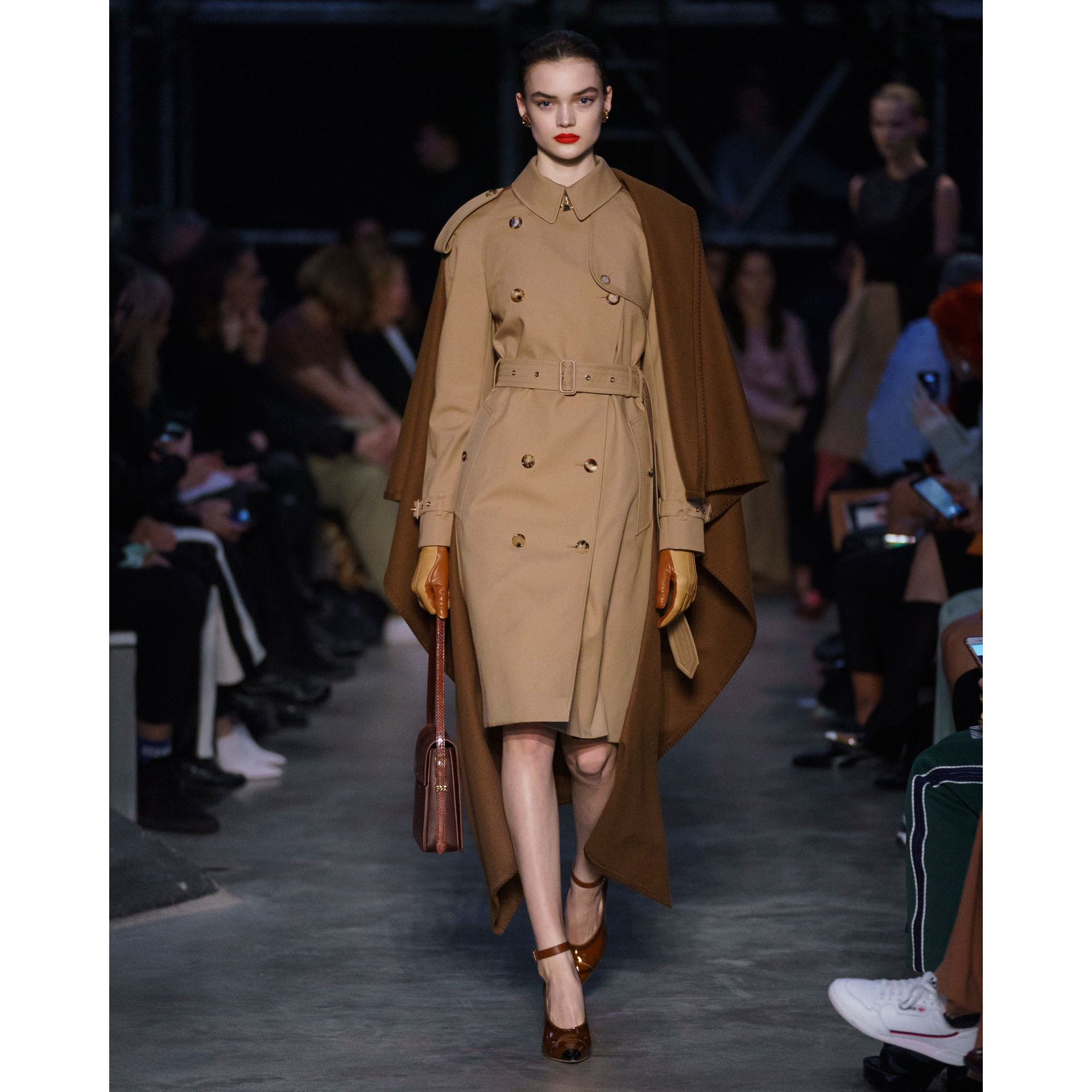 Blanket Detail Cotton Gabardine Trench Coat in Camel - Women | Burberry - gallery image 9