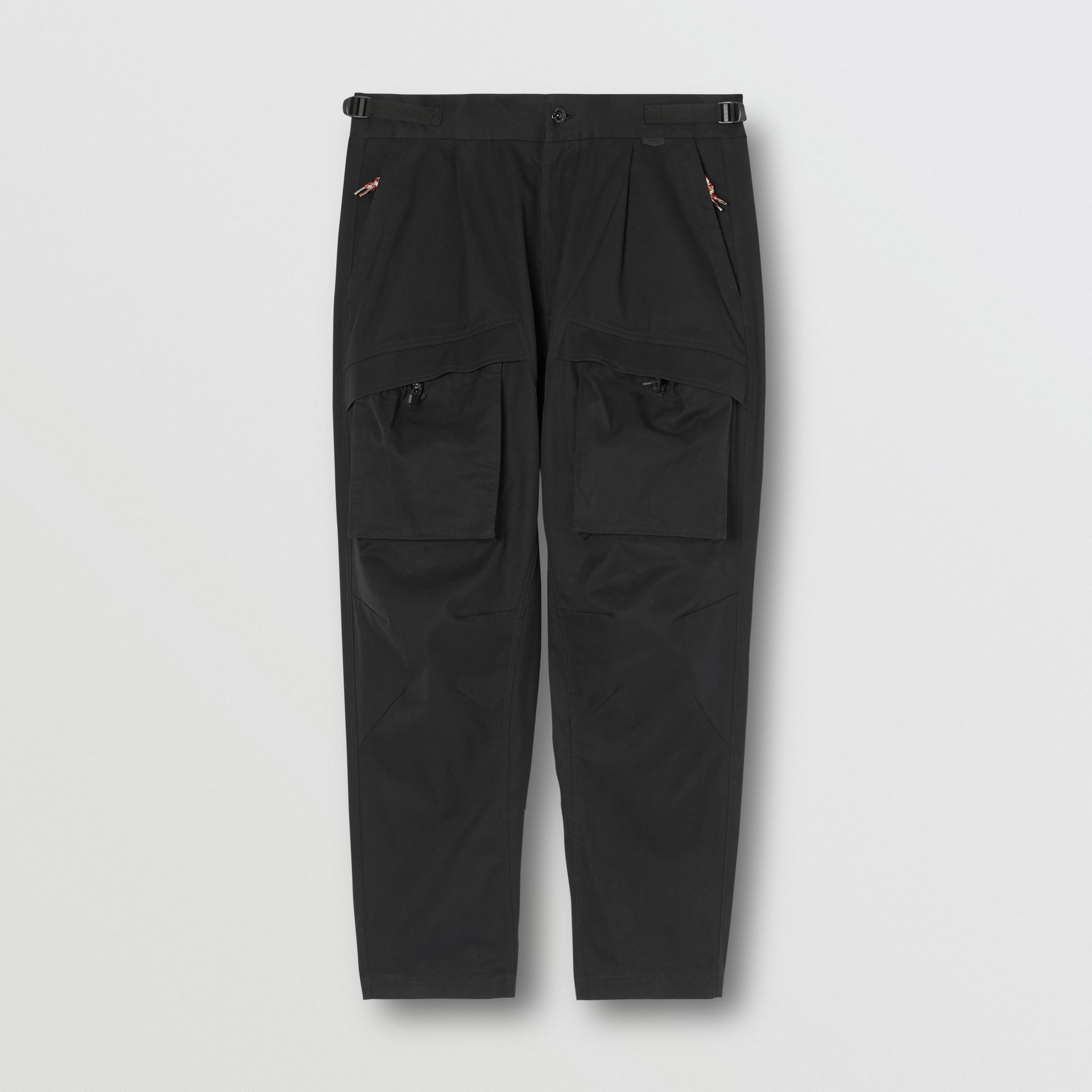 Cotton Cargo Trousers in Black - Men | Burberry - gallery image 3