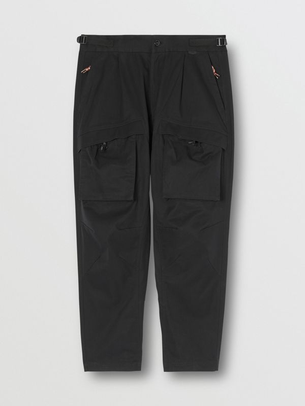 Cotton Cargo Trousers in Black - Men | Burberry - cell image 3