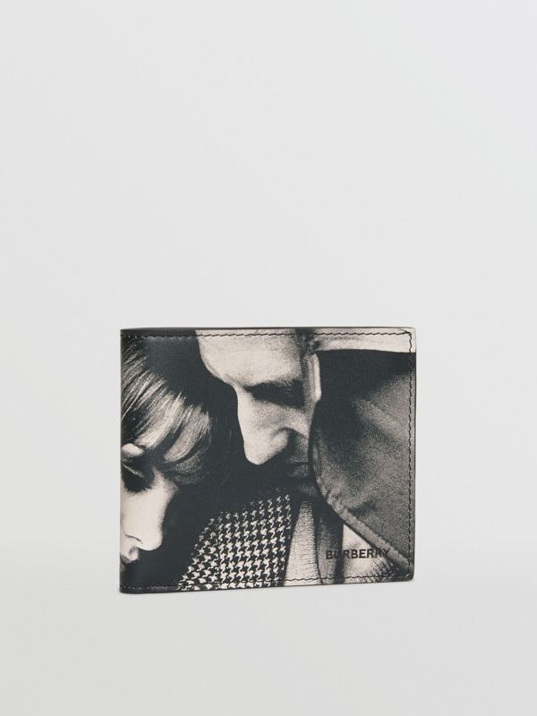 Archive Campaign Print International Bifold Wallet in Black/white - Men | Burberry - cell image 3