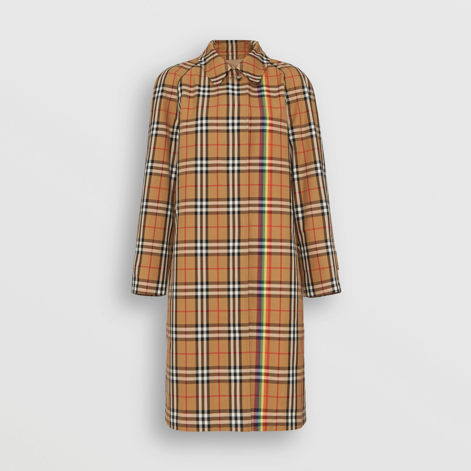 Rainbow Vintage Check Car Coat in Multicolour - Women | Burberry United Kingdom - gallery image 3