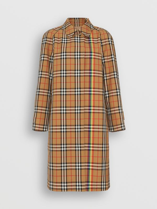 Rainbow Vintage Check Car Coat in Multicolour - Women | Burberry - cell image 3