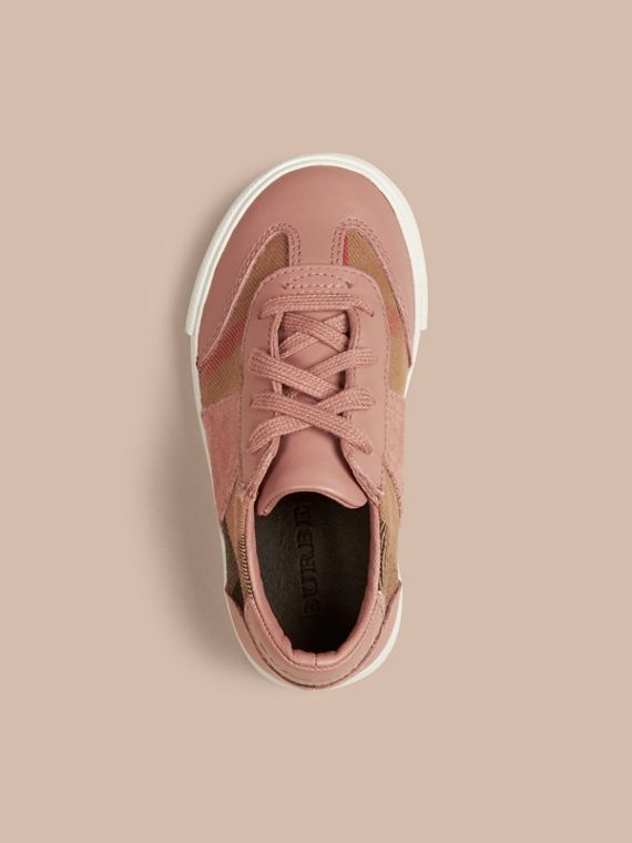 Nude blush House Check and Leather Trainers Nude Blush - cell image 2
