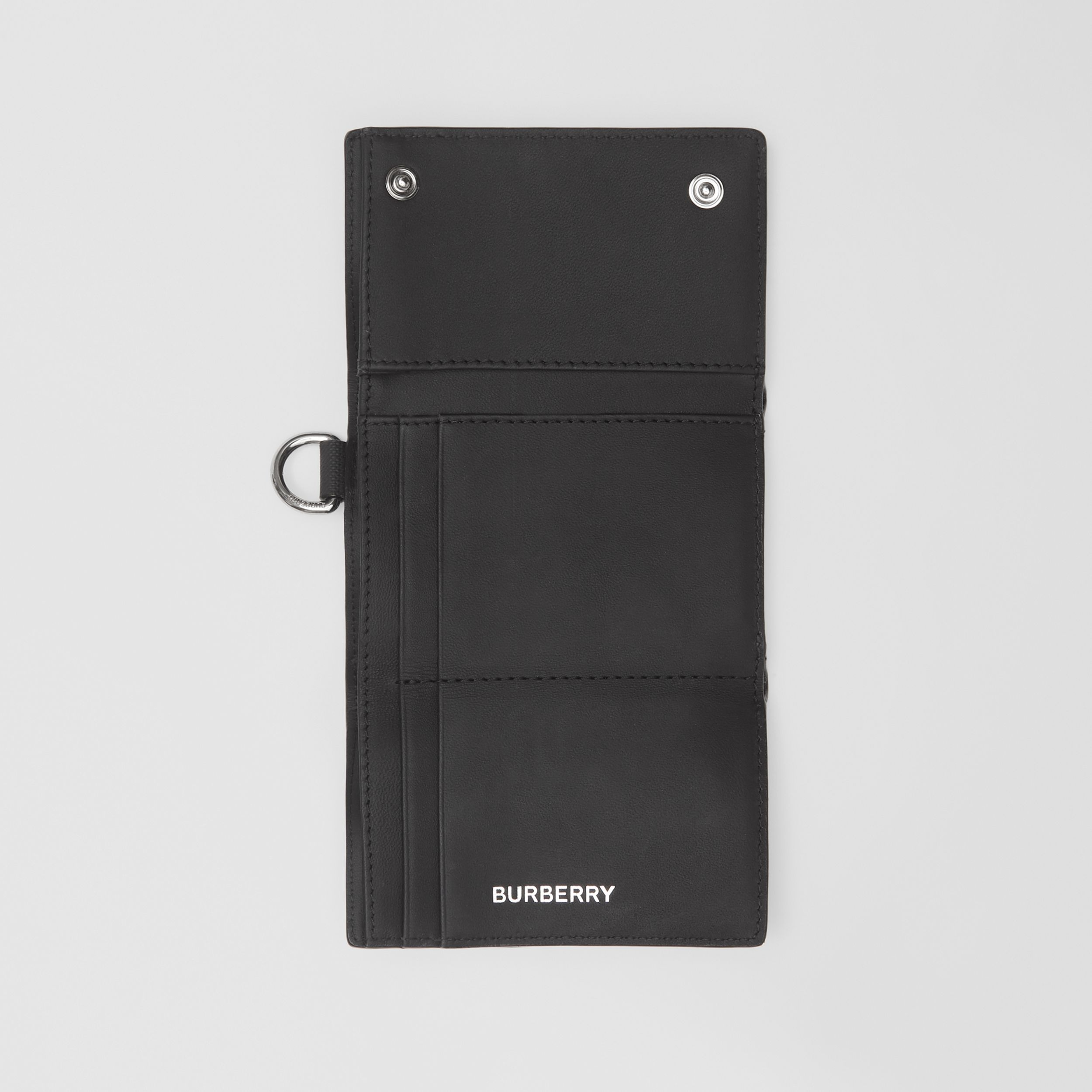 Small London Check Folding Wallet in Dark Charcoal - Men | Burberry - 3