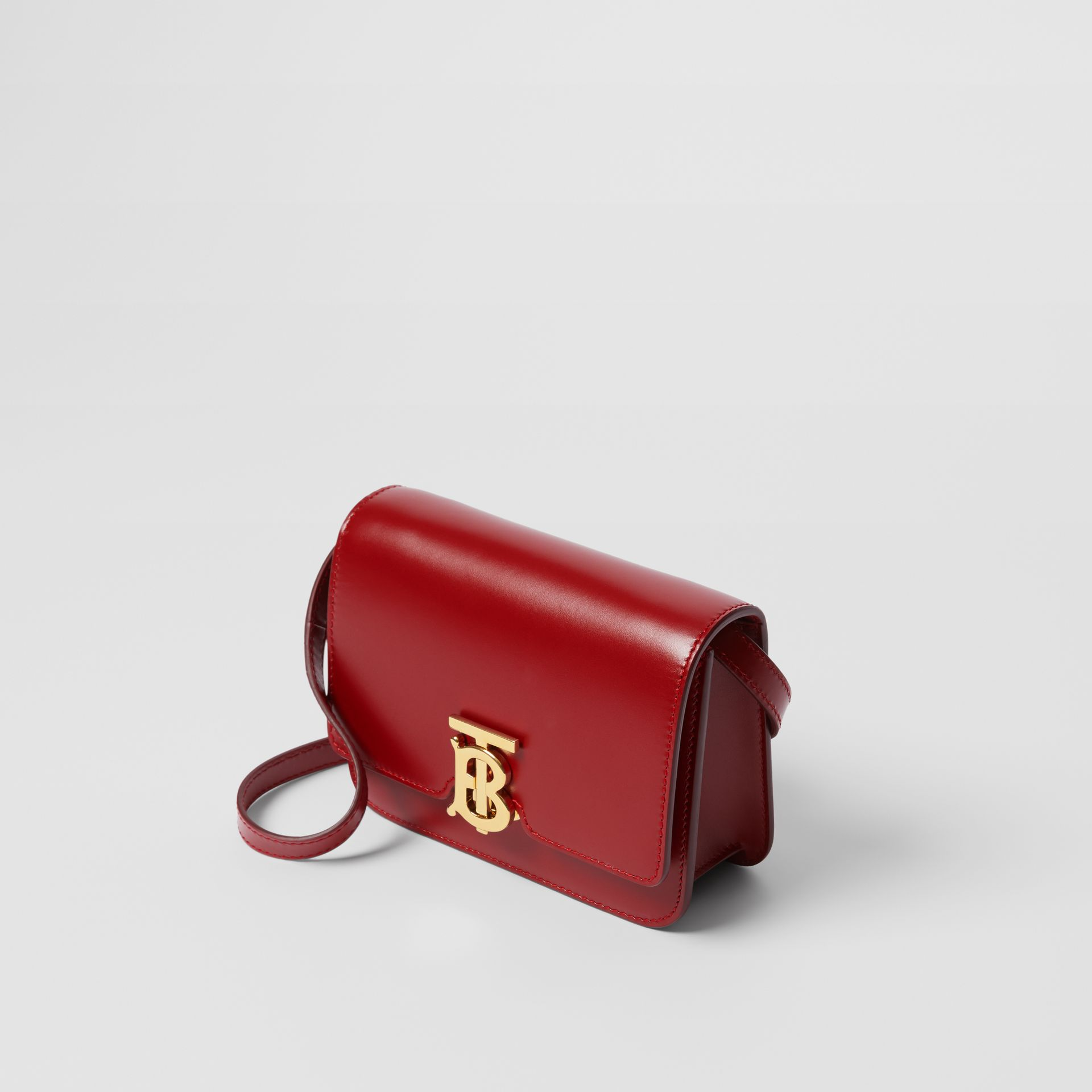Mini Leather TB Bag in Dark Carmine - Women | Burberry - gallery image 3