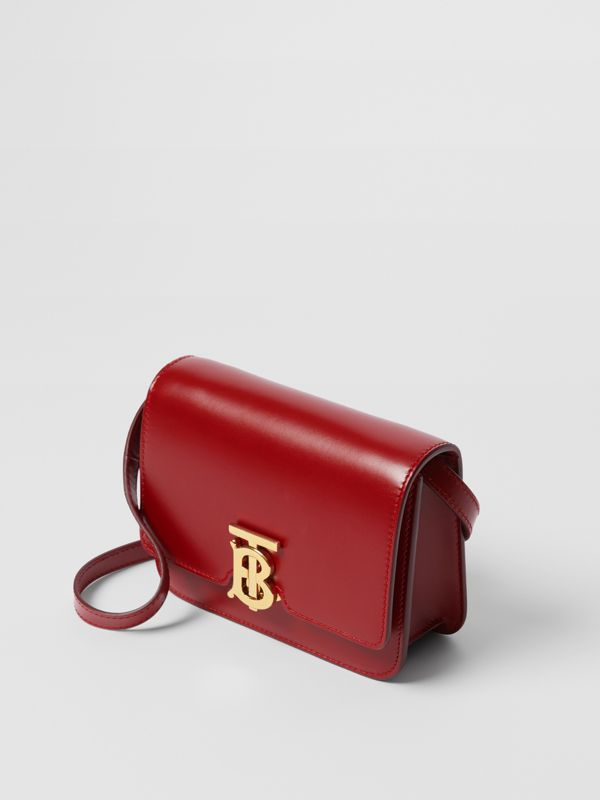 Mini Leather TB Bag in Dark Carmine - Women | Burberry - cell image 3