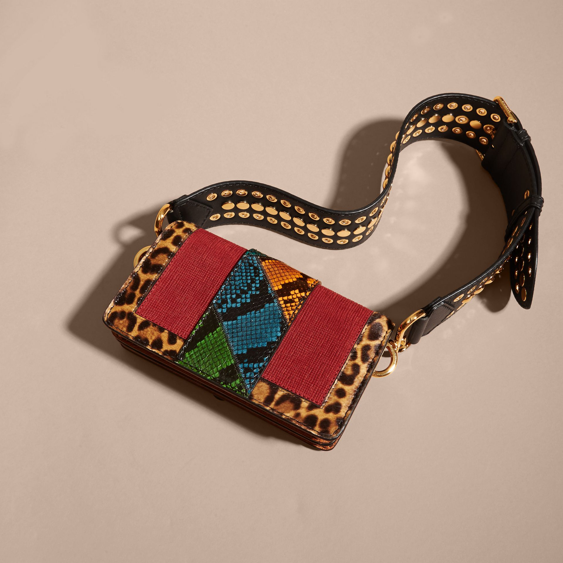 The Patchwork in Textured Suede and Leopard-print Calfskin - gallery image 2