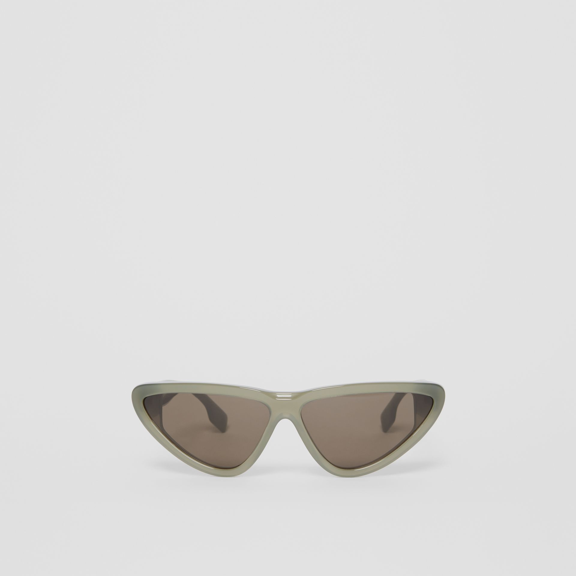 Triangular Frame Sunglasses in Opal Green - Women | Burberry - gallery image 0