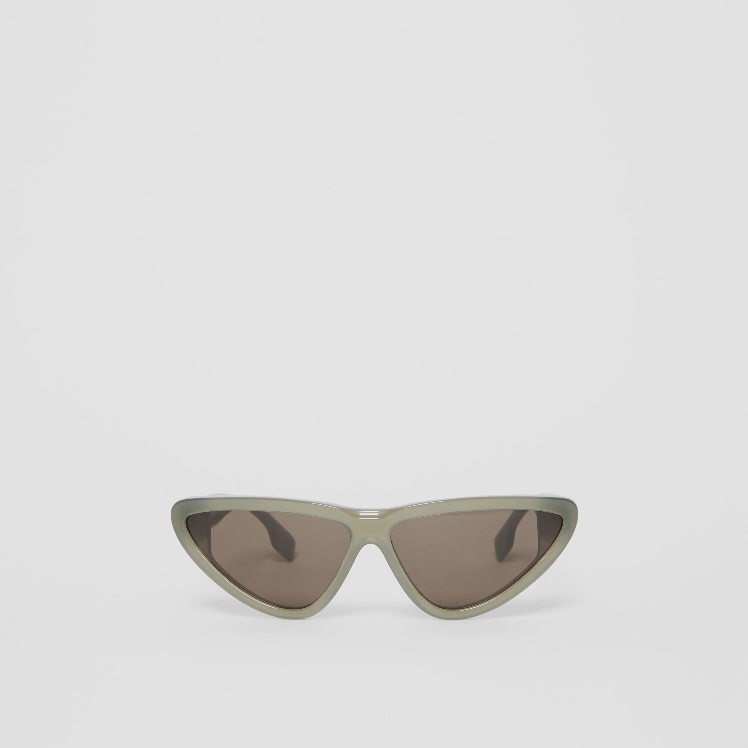 Triangular Frame Sunglasses in Opal Green | Burberry - 1