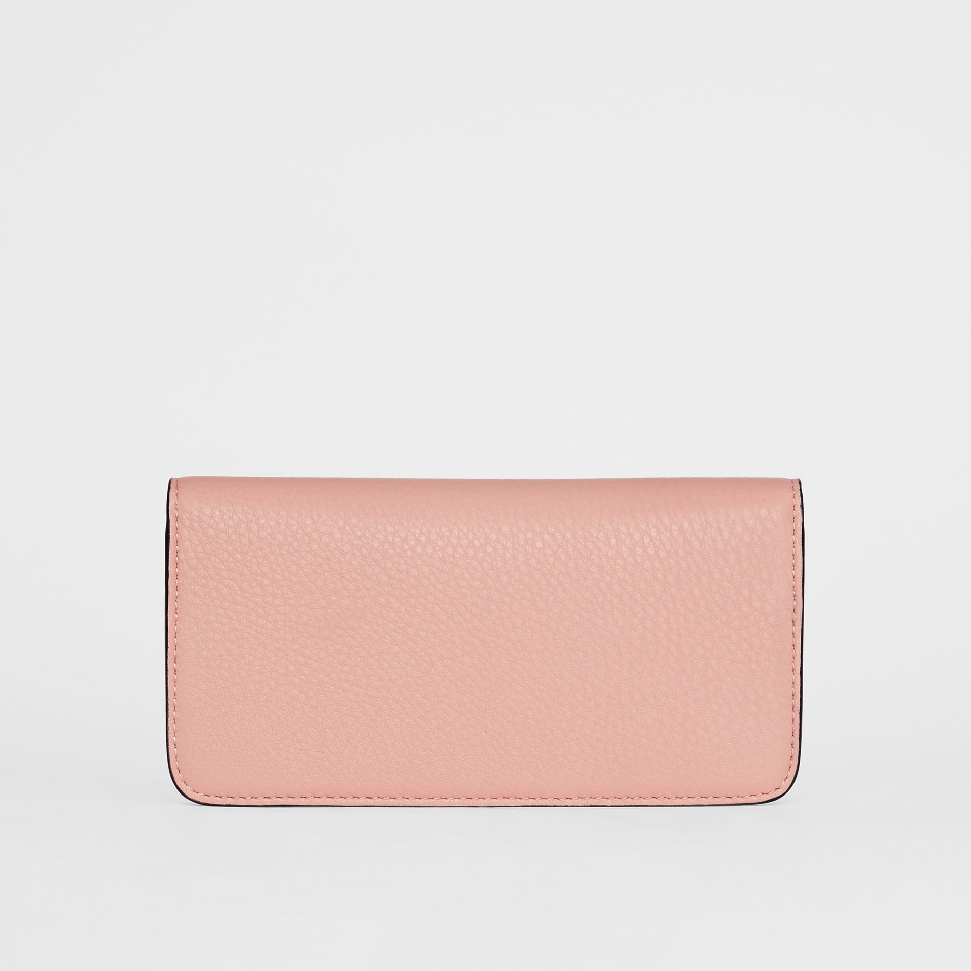 Leather Phone Wallet in Ash Rose - Women | Burberry - gallery image 5
