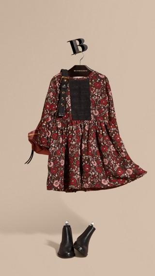 Robe en soie à imprimé floral