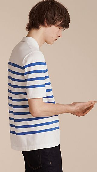 Striped Cotton Polo Shirt