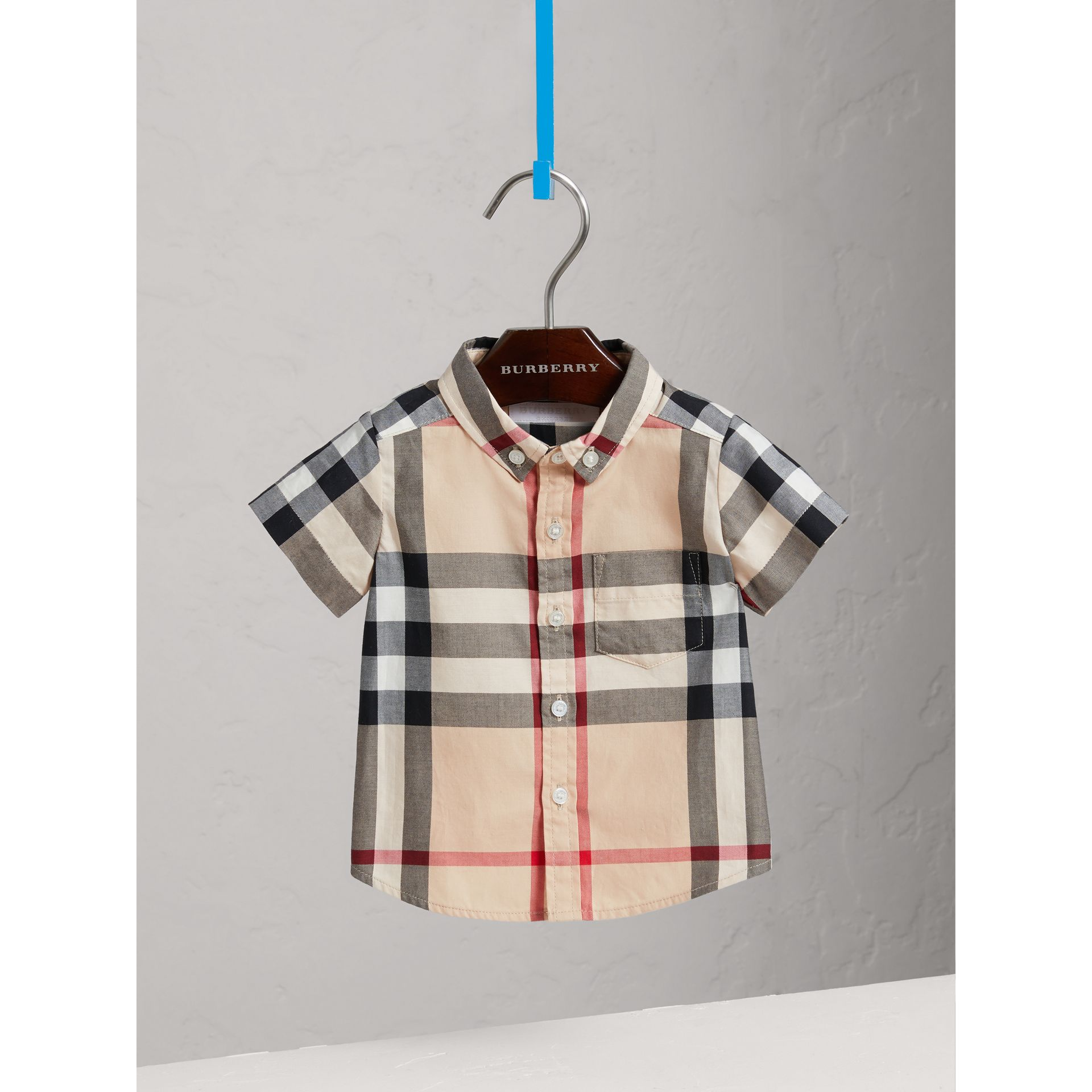 Check Cotton Twill Shirt in New Classic - Boy | Burberry United States - gallery image 0