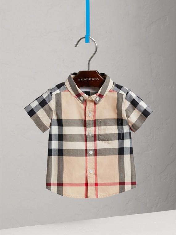 Camicia in twill di cotone con motivo check (New Classic)