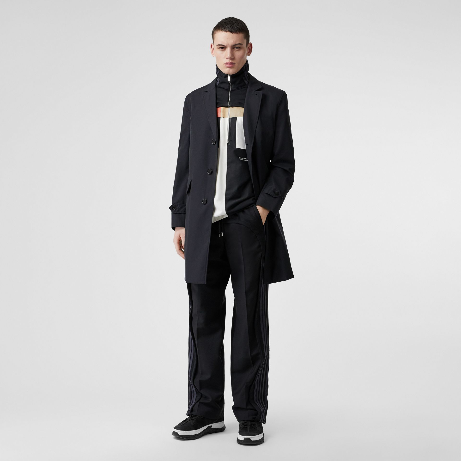 Cotton Gabardine Lab Coat in Midnight Navy - Men | Burberry - gallery image 0