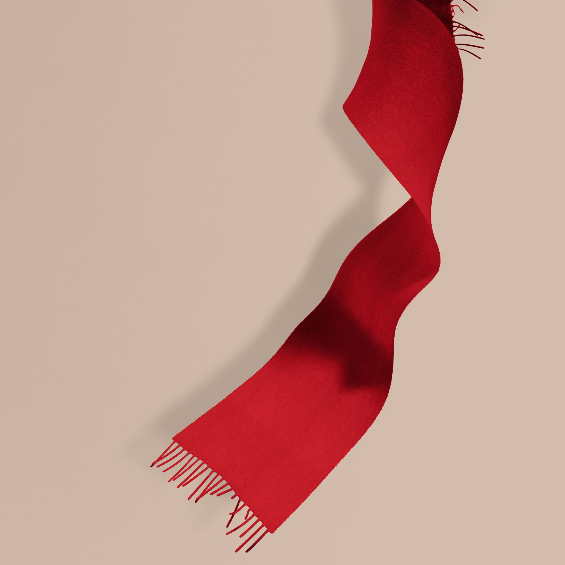 The Mini Classic Cashmere Scarf in Parade Red | Burberry - gallery image 1