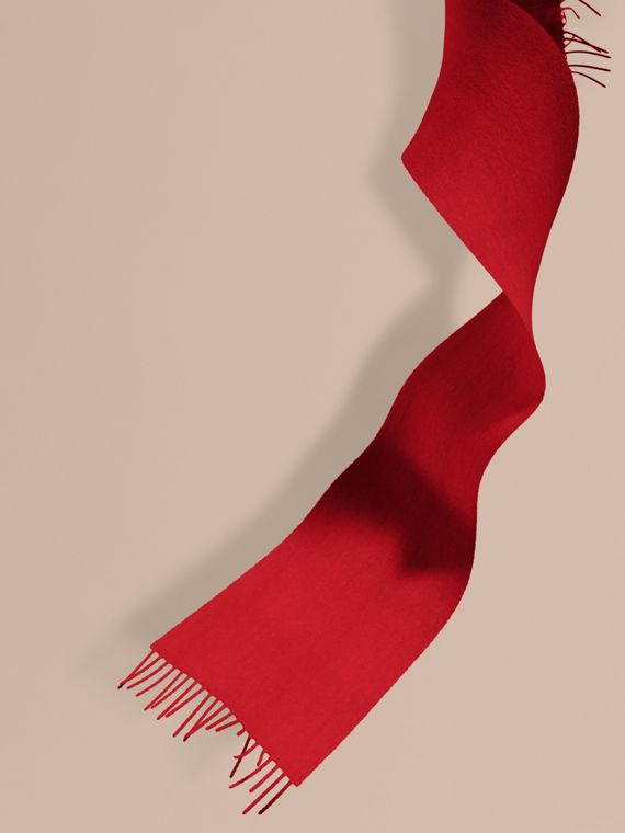 The Mini Classic Cashmere Scarf in Parade Red | Burberry Canada
