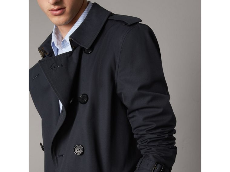 The Sandringham – Mid-length Heritage Trench Coat in Navy - Men | Burberry - cell image 4
