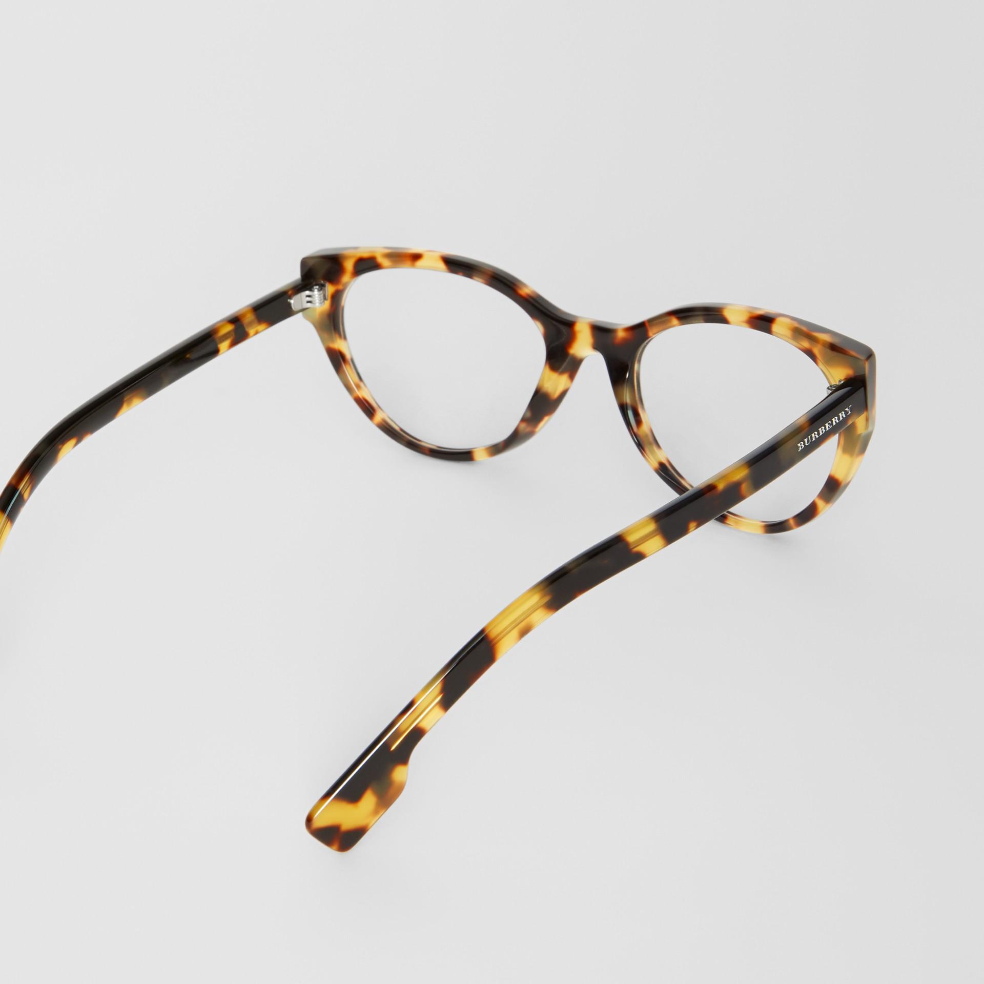 Cat-eye Optical Frames in Tortoise Shell - Women | Burberry - gallery image 4