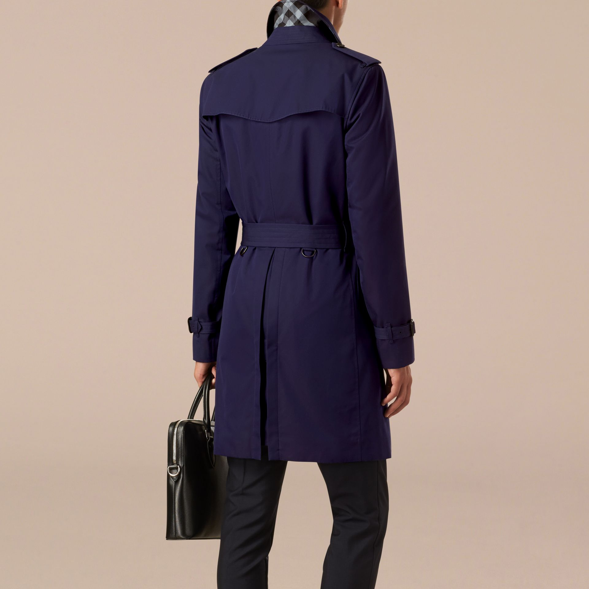 Blueberry The Chelsea – Cotton Gabardine Trench Coat Blueberry - gallery image 2