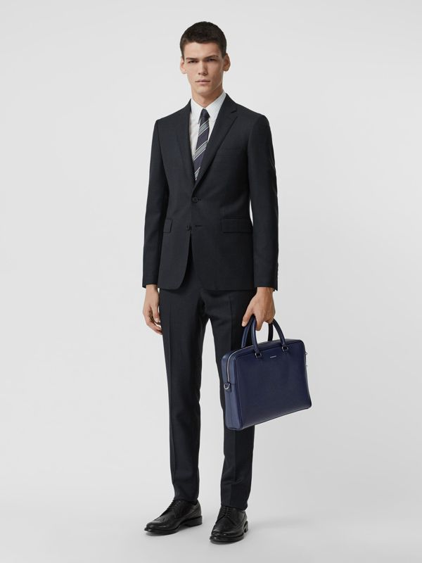 London Leather Briefcase in Navy - Men | Burberry - cell image 2