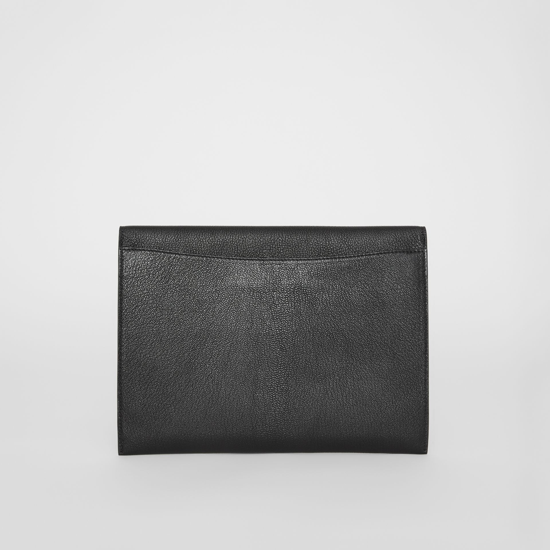 D-ring Leather Pouch in Black - Women | Burberry - gallery image 5