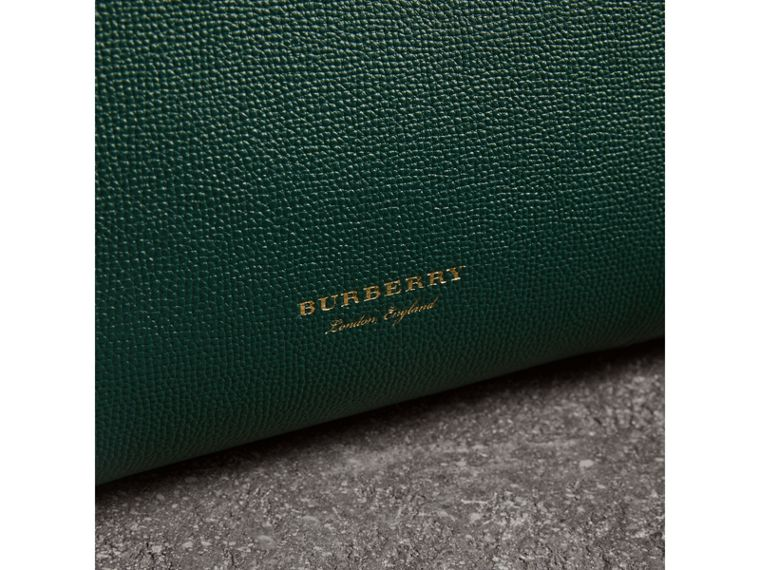 The Medium Banner in Brogue Detail Leather in Sea Green - Women | Burberry - cell image 1