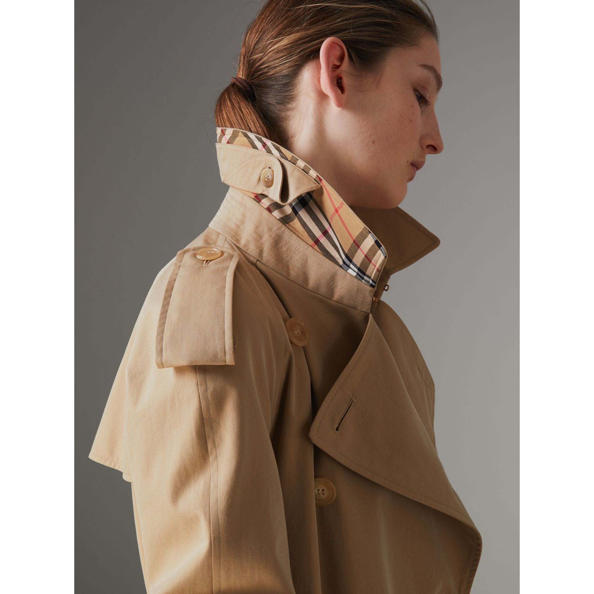 The Long Westminster Heritage Trench Coat in Honey - Women | Burberry - gallery image 8