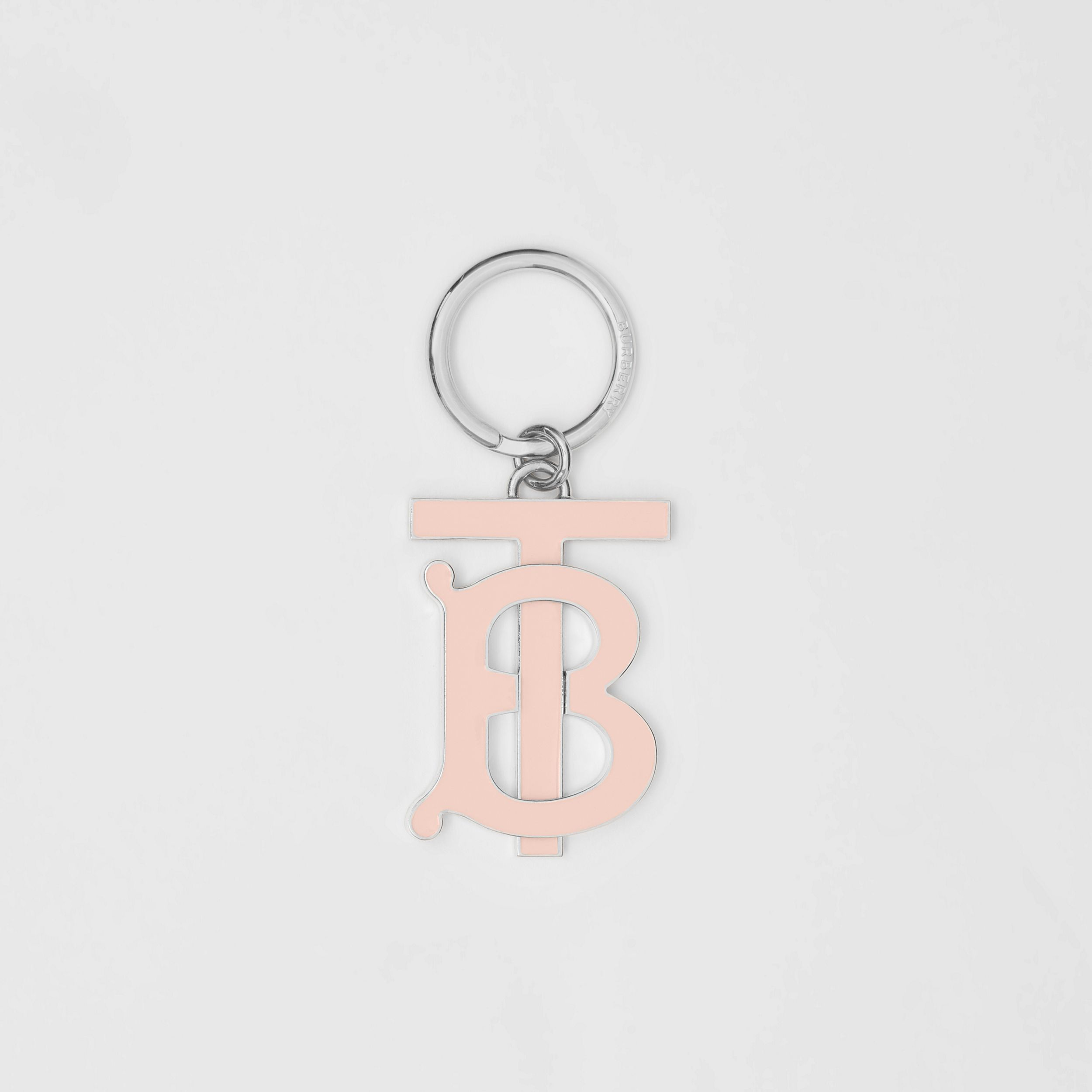 Monogram Motif Palladium-plated Key Charm in Rose Beige - Women | Burberry - 1