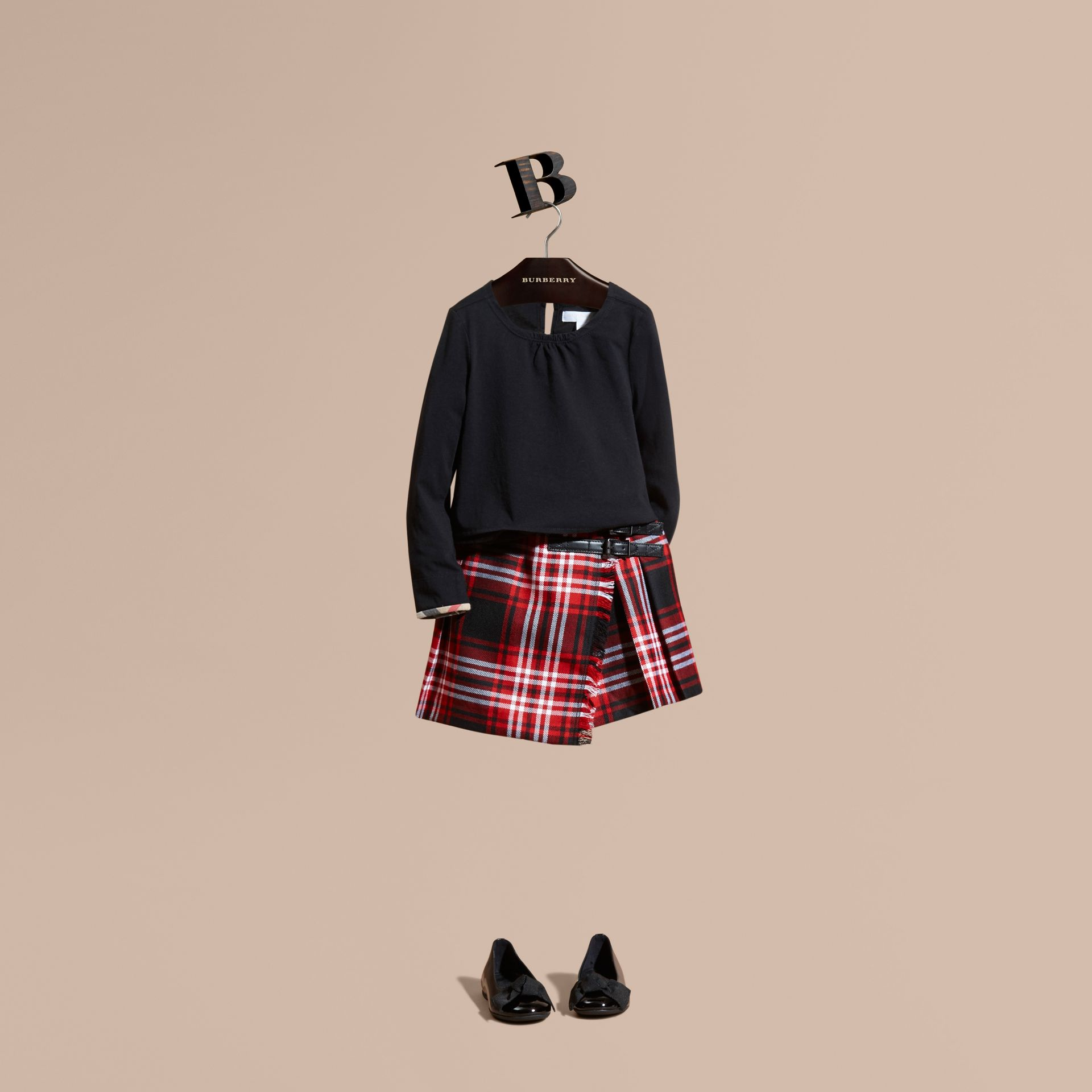 Parade red Check Wool Kilt - gallery image 1