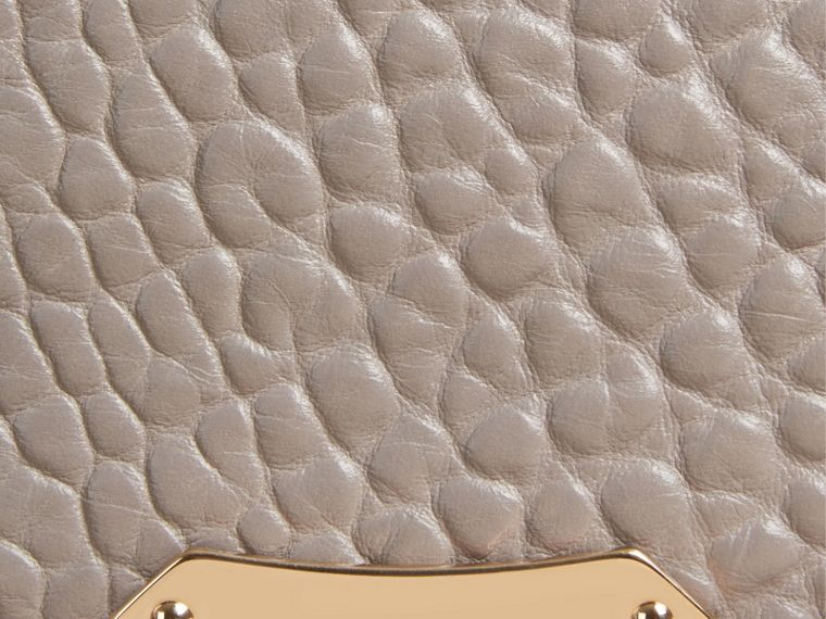 Pale grey Medium Signature Grain Leather Clutch Bag Pale Grey - cell image 1