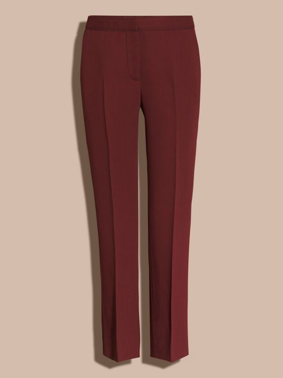 Deep burgundy Cropped Tailored Trousers Deep Burgundy - cell image 3