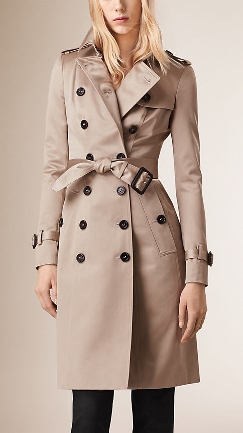 Trench Cotton Sateen Trench Coat  - Image 1