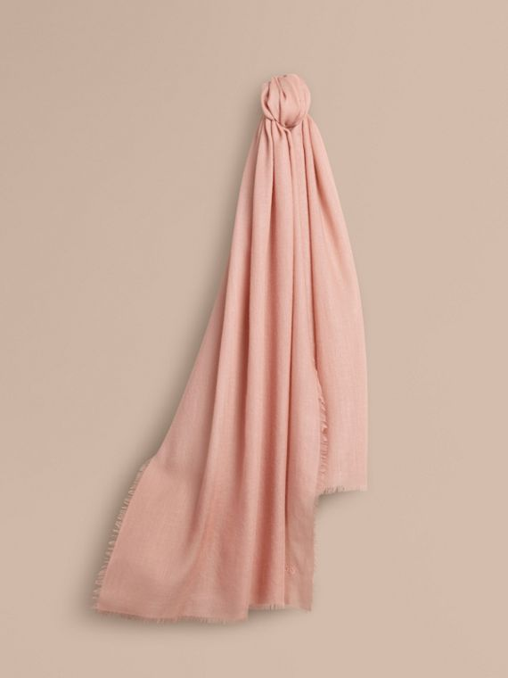 The Lightweight Cashmere Scarf in Ash Rose