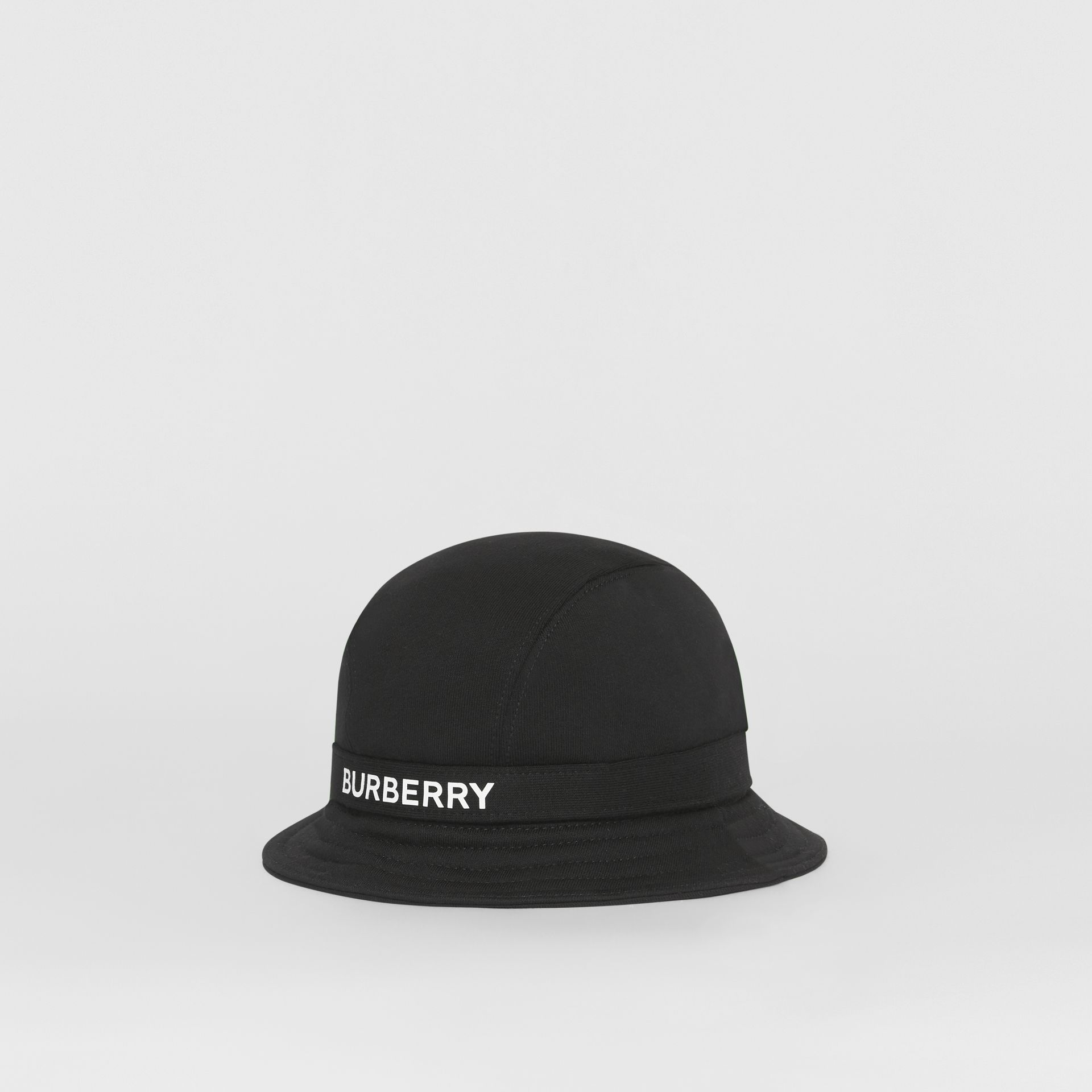 Logo Detail Bucket Hat in Black | Burberry United Kingdom - gallery image 5
