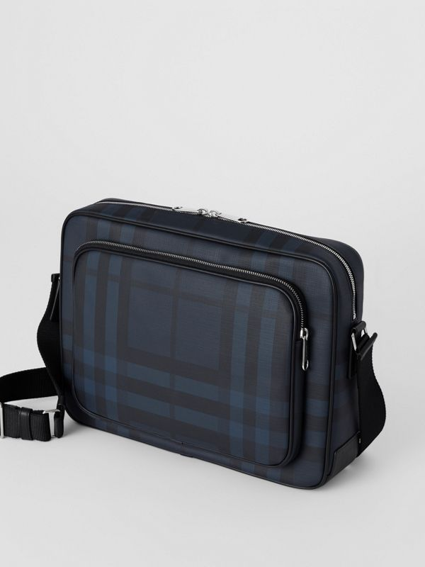Borsa messenger con motivo London check (Navy/nero) - Uomo | Burberry - cell image 3