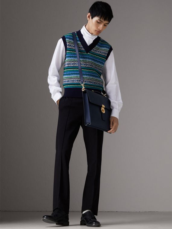 Grand porte-documents DK88 (Bleu Encre) - Homme | Burberry - cell image 3