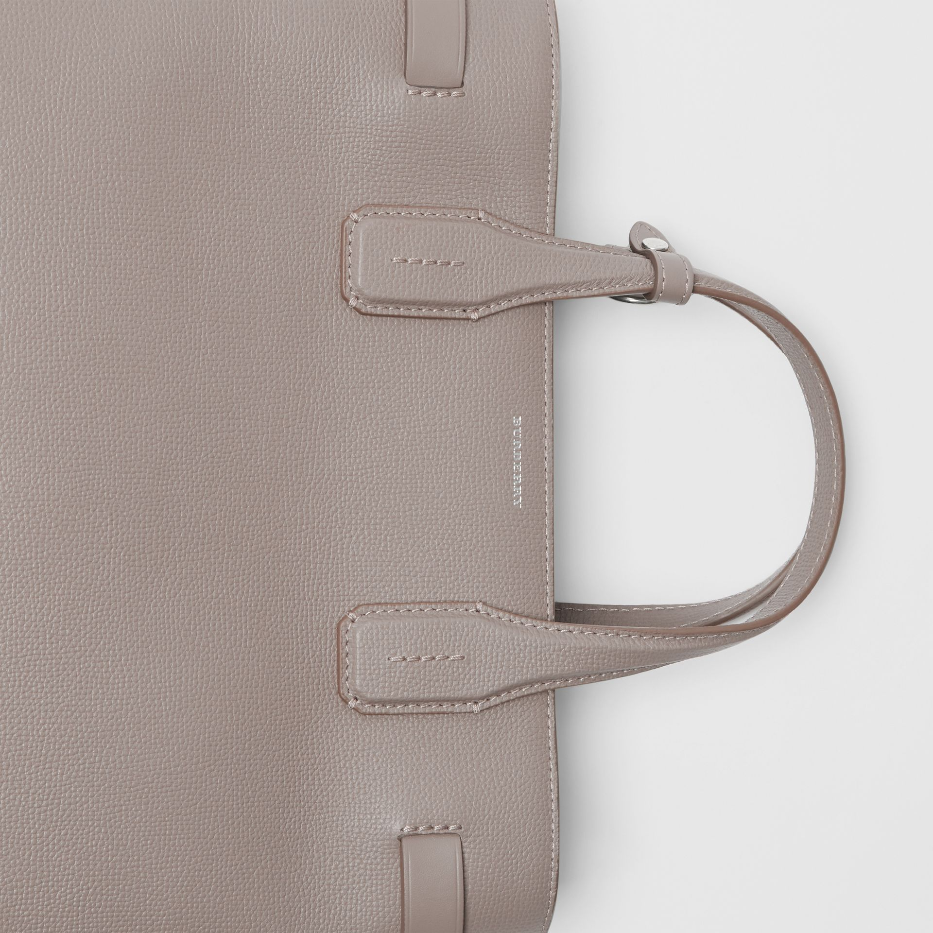 The Medium Banner in Leather and Vintage Check in Taupe Brown - Women | Burberry Australia - gallery image 1