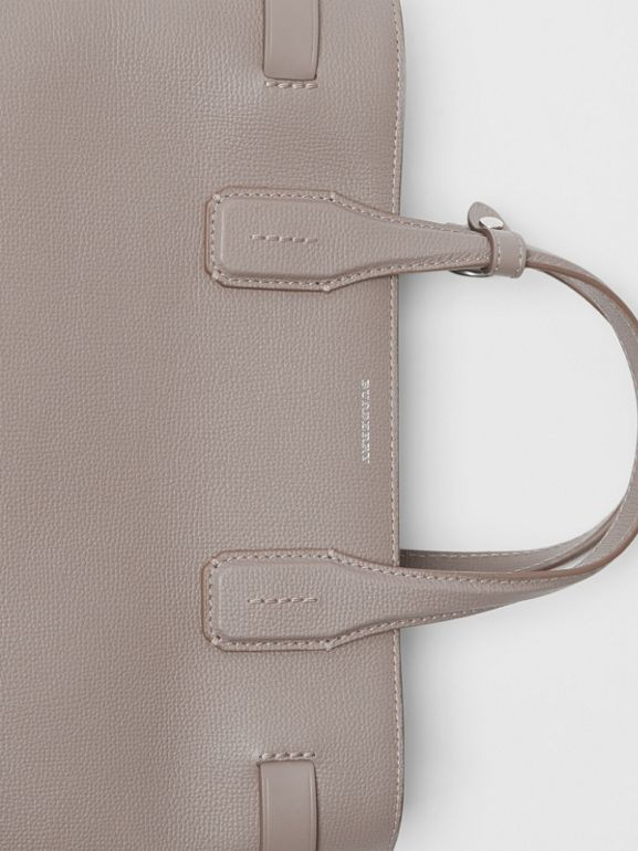 The Medium Banner in Leather and Vintage Check in Taupe Brown - Women | Burberry Australia - cell image 1