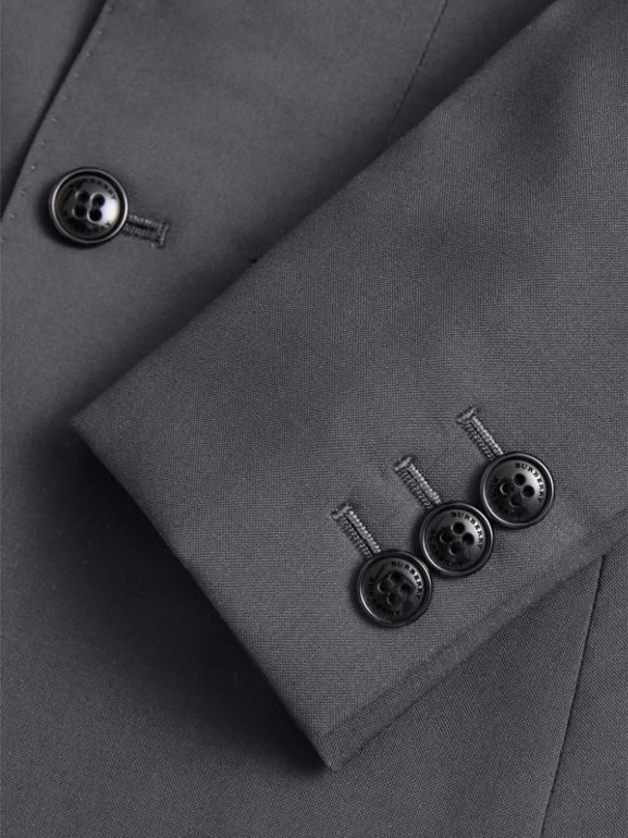Single-breasted Wool Blazer in Mid Grey Melange | Burberry - cell image 1
