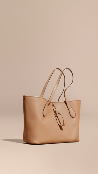 Sac tote medium en cuir grené