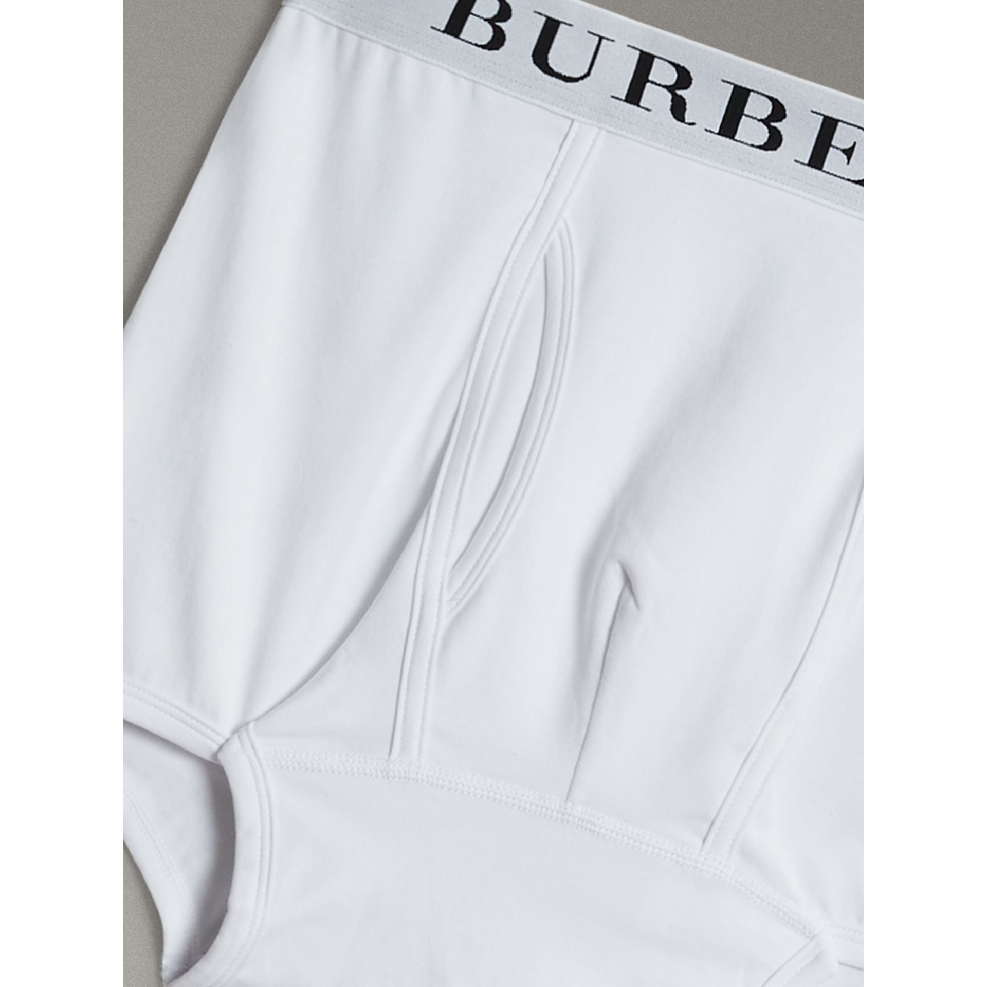 Stretch Cotton Boxer Shorts in White - Men | Burberry Singapore - gallery image 1