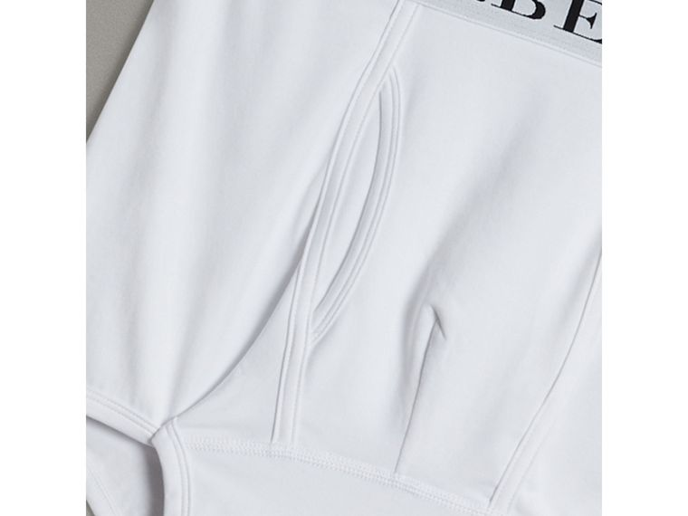 Stretch Cotton Boxer Shorts in White - Men | Burberry - cell image 1