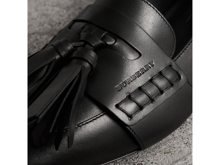Tasselled Leather Loafers in Black - Women | Burberry Hong Kong - cell image 1