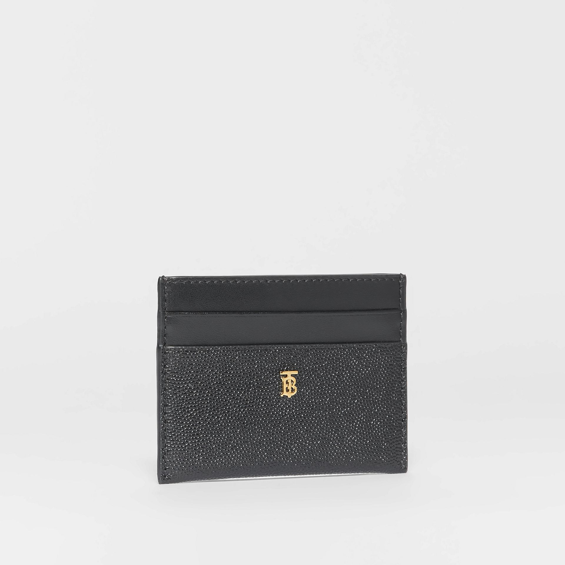 Monogram Motif Leather Card Case in Black - Women | Burberry - gallery image 3