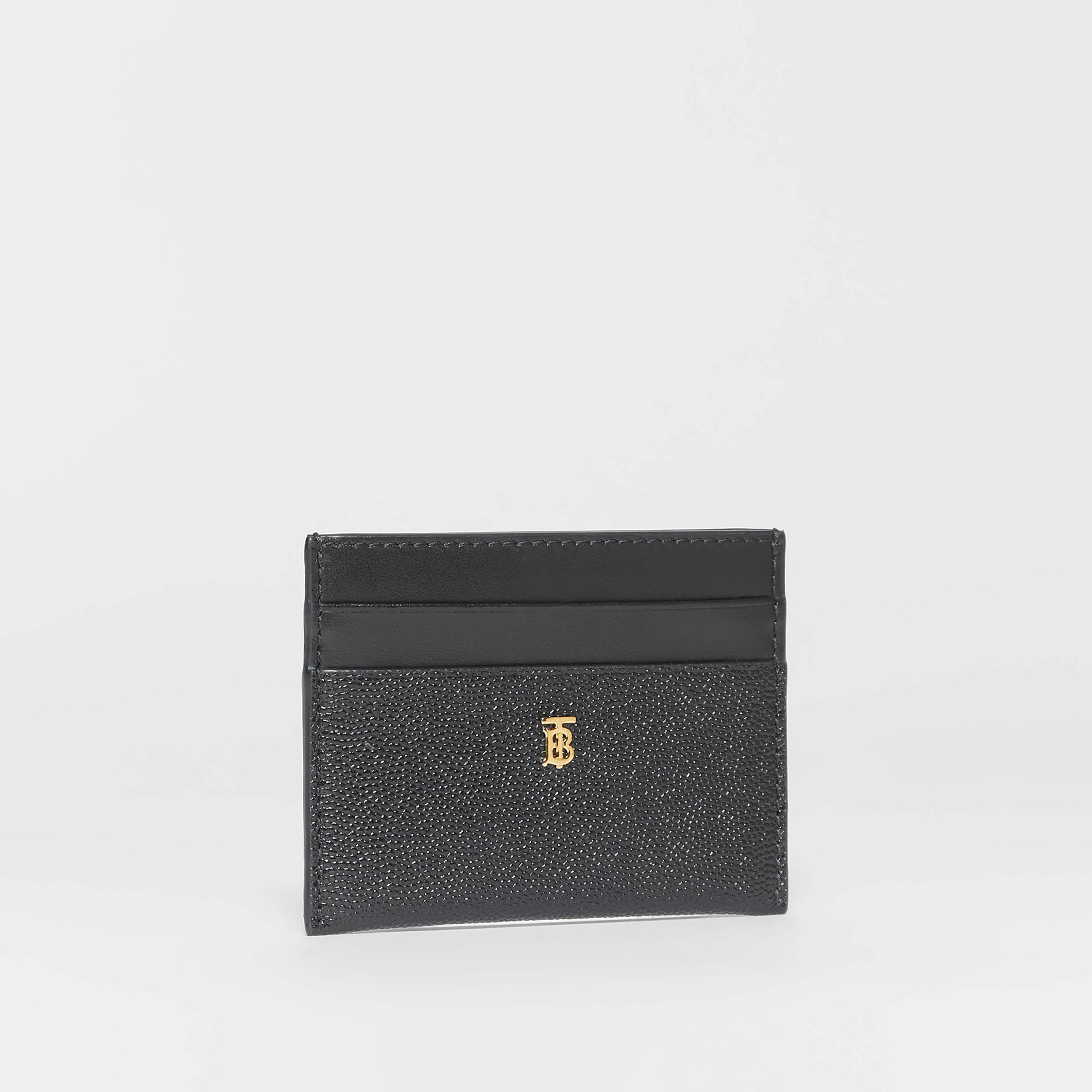 Monogram Motif Leather Card Case in Black - Women | Burberry - 4